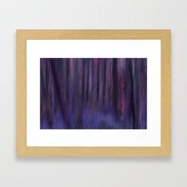 Painted Trees 2 Purples Framed Art Print