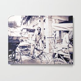 Mr RickShaw Metal Print