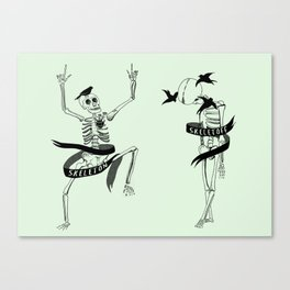 Skeleton Skeletoff Canvas Print