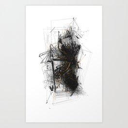 Unwelcome Gaze – Amazon 3 Art Print