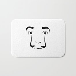 famous salvador dali painter minimal sketch portrait Bath Mat
