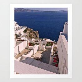 Greek sea Art Print