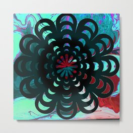 Black Flower Metal Print