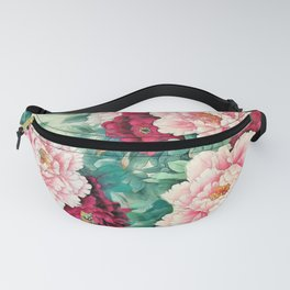 Light pink and purple peonies Fanny Pack