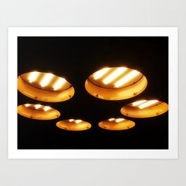 UFO Engines Art Print