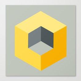 'Iso-Cube Yellow' Canvas Print
