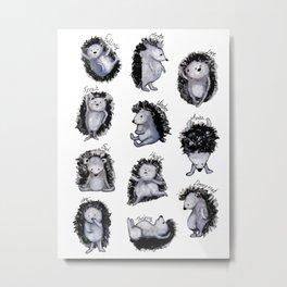Hedgehogs Days Metal Print
