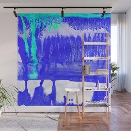 Dip Dye Ultramarine Wall Mural