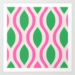 Pretty Ogee Pattern 362 Art Print