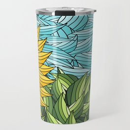 SUNNY DAY (abstract flowers) Travel Mug