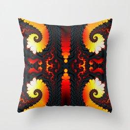Fractal Art - Fire Glacier I Throw Pillow