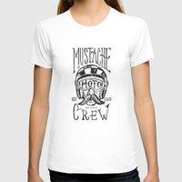 moto T-shirts featuring Mustache Moto Crew by Kris Petrat Design :  Art Love Moto