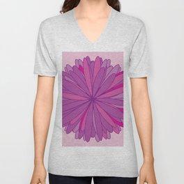 Big beautiful flower Unisex V-Neck