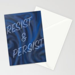 Resist and Persist SWIRL Stationery Cards
