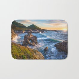 Soberanes Point Sunset, Big Sur Bath Mat