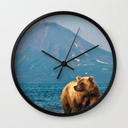 The bear under the volcano Wall Clock