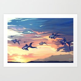 Sky Fishes Art Print