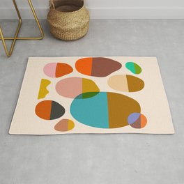 Abstraction_Pebbles_Colour_Minimalism_001 Rug