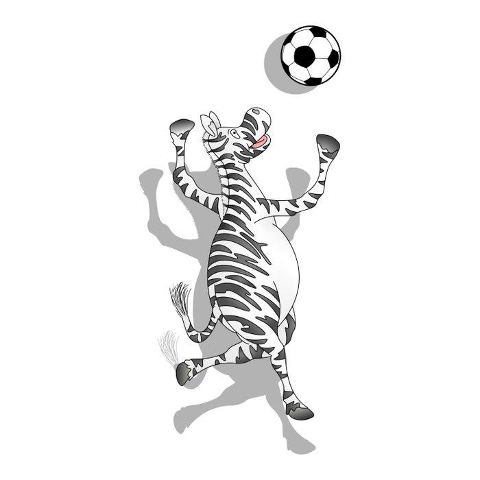 Zebra Football Duvet Cover