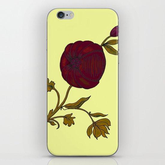 simple decorative pomegranate 3 iPhone Skin