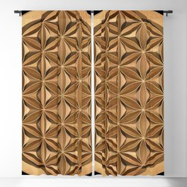 Flower of Life Blackout Curtain