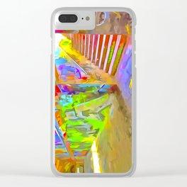 London Graffiti Pop Art Clear iPhone Case
