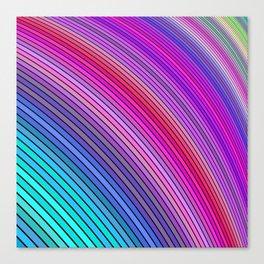 Cold rainbow stripes Canvas Print