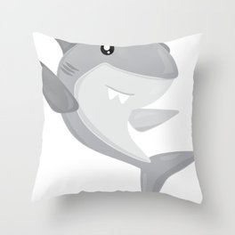 Friendly Sharks Great White Shark Throw Pillow