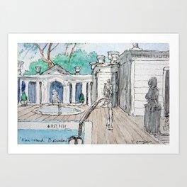 Belvedere Pool Art Print