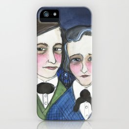 A Moonlit Tale of Grimm, Victorian Writers Portrait, The Brothers Grimm Portrait iPhone Case