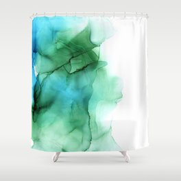 The Blue Green Sea Shower Curtain