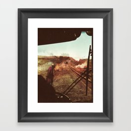 End Of The Road Framed Art Print