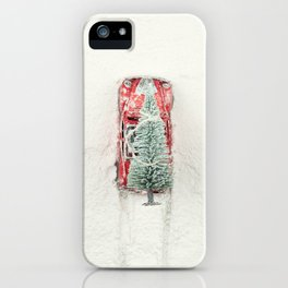 Christmas Eve in a hurry iPhone Case