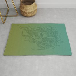 Japanese Oni Head Rug