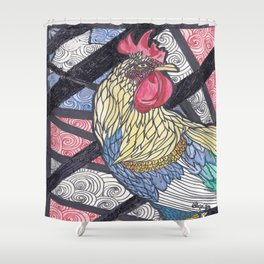 Fighting Rooster Shower Curtain