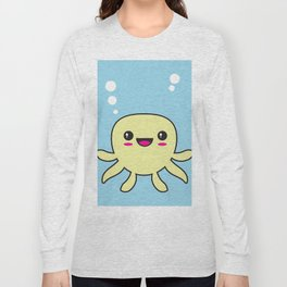 Kawaii Octopus Long Sleeve T-shirt