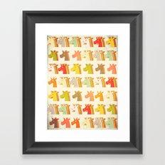 Multi Unicorn Framed Art Print