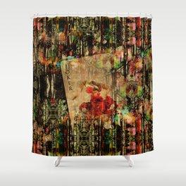 Abstract Vintage Joker card  Digital Art Shower Curtain