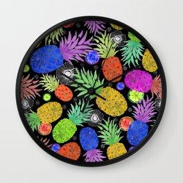 Groovy Pinapples Wall Clock