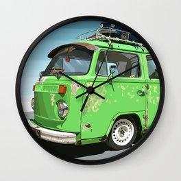 Combi green Wall Clock
