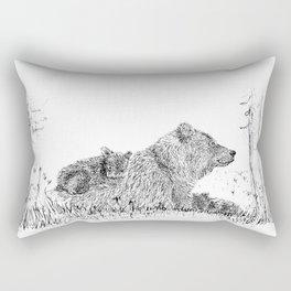Family Bear Rectangular Pillow