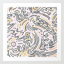 squiggle wiggles Art Print