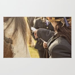 Horse and rider at Agriculture show Australia. Rug