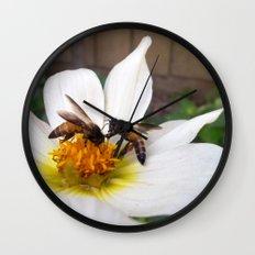 Bees at Work Wall Clock