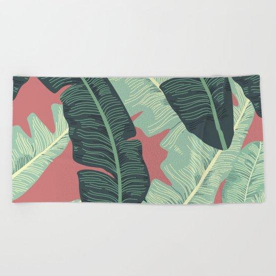 BANANA LEAVES Beach Towel