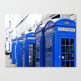Red Booths Turned Tardis Canvas Print