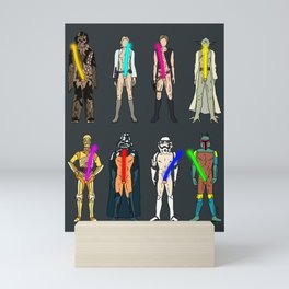 Naughty Lightsabers - Dark Mini Art Print