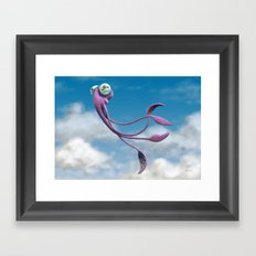 Choco the Sky Squid Framed Art Print