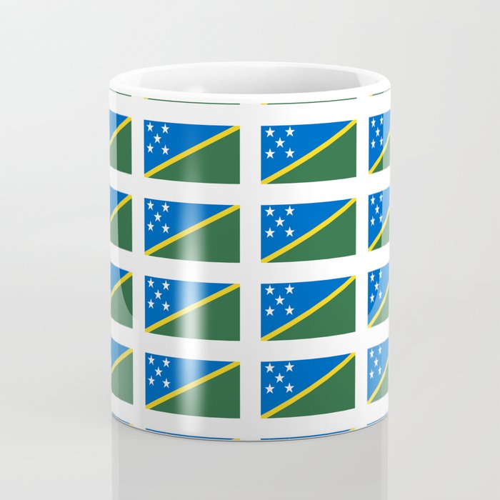 flag of Salomon -Salomon,salomon islander,santa isabel,nggela,malaita,honiara,guadalcanal Coffee Mug