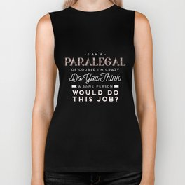 Strongest Paralegal shirt, funny tee Shirt is a gift t-shirt Biker Tank